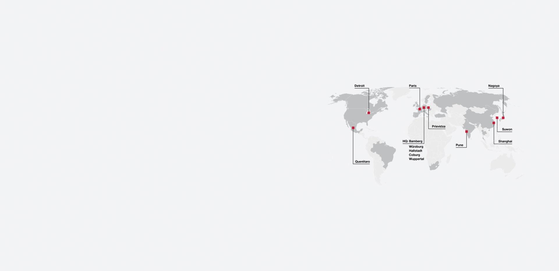 Brose Elektronik Weltkarte