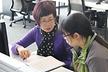 <p>Zhang Qionghui, Buyer Purchasing Electronics Drives, is mentoring her student Ni Xinhui.</p>