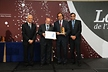 <p>Employers' association ADEG awards the Brose plant in Sta. Margarida, Spain, with the Award for Quality (from left): Xavier Cardona, Chairman of ADEG, Josep Huguet, Minister for Industry and Innovation in Catalonia, Brose General Manager Adolfo Varillas, and Jordi Baijet, Mayor of Sitges, Spain.</p>
