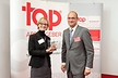 <p>Katrin Menzner, responsible for HR Marketing in the Brose Group, accepted the award from Steven Veenendaal, CEO of CRF Institute, at the publishing house of the Süddeutsche Newspaper in Munich.</p>