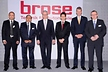 <p>The international automotive supplier Brose officially opened a production facility in India, watched by many guests from government and industry. From left: Surinder Chauhan (General Manager Brose Pune), Ashwani Aggarwal (President Brose India), Peter Gresch (Executive Vice-President Development and Electronics Brose Group), Dr Bernd Forster (German Deputy Consul General in Mumbai), Bernhard Steinrücke (Director General of the Indo-German Chamber of Commerce, IGCC), Dr Reinhard Meschkat (Executive Vice-President Production Brose Group).</p>