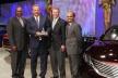 """<p>Bereits zum fünften Mal hat Ford dem Brose Werk Sta. Margarida den """"World Excellence Award"""" verliehen. V.l.n.r.: Ford-Einkaufsvorstand Tony Brown, Präsident Brose Nordamerika, Jan Kowal, CEO der Ford Motor Company Alan Mulally, und Entwicklungsvorstand Raj Nair.</p>"""