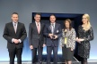 <p>Daimler Supplier Award 2012 (from left): Dr. Klaus Zehender (Head of Procurement Mercedes-Benz Cars &amp; Vans), Dr. Wolfgang Bernhard (Board Member Manufacturing and Procurement Mercedes-Benz Cars &amp; Vans), Jürgen Otto, Birgit Abele (Procurement Agent) and presenter Judith Rakers.</p>