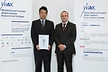 <p>The Brose Prize for dissertations and theses in the area of plastics engineering has been awarded for the eighth time. Prof. Peter Weidinger, Director Material Laboratories Brose Group (right), presented an award to Dr Leyu Lin in Düsseldorf for his PhD thesis.</p>