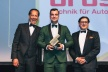 <p>Sandro Scharlibbe (Executive Vice President Purchasing Brose Group) with the Procurement Leaders Award 2015. Actor Richard E. Grant (left) and Alexander F. Kleiner, General Manager EMEA, Coupa Software Inc., presented the award.</p>